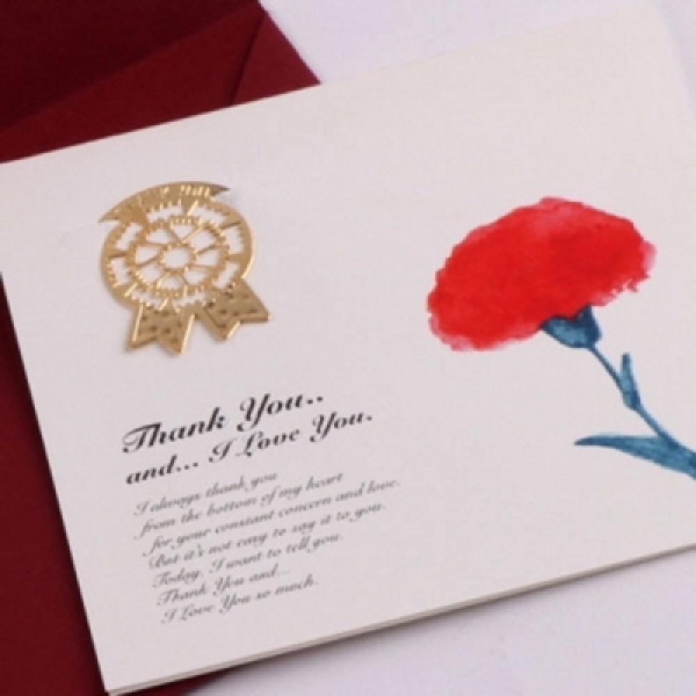 감사의 카네이션 책갈피카드