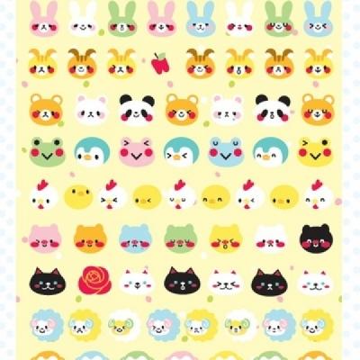 쁘띠 푹신푹신 동물 스티커 - 4TYPE
