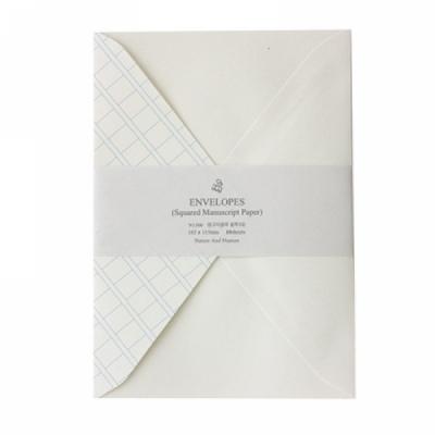 원고지블루 봉투세트(대)
