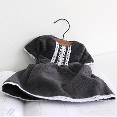 레이스진주 주방타올 (우드옷걸이 세트) (2color)