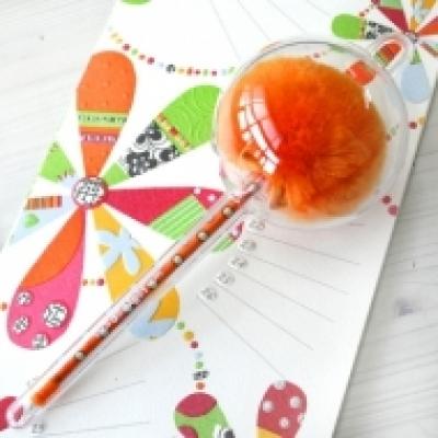 롤리팝볼펜-  Mini 오렌지폴카