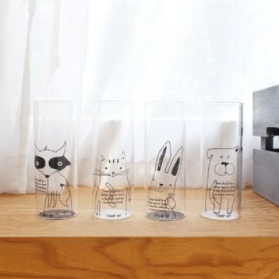 인테리어 화병 - 동물유리컵