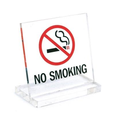 유니온 테이블 표지판 - NO SMOKING (금연) (L자형) (소) (스텐드형) (60x60mm) (U6061)