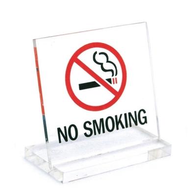 유니온 테이블 표지판 - NO SMOKING (금연) (L자형) (대) (스텐드형) (80x80mm) (U8081)