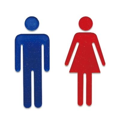 유니온 표지판 (화장실표지판) - 남자화장실 여자화장실 (입체사인) (아크릴표지판) (45x100x3mm) (U2530) (U2531) (제품선택)
