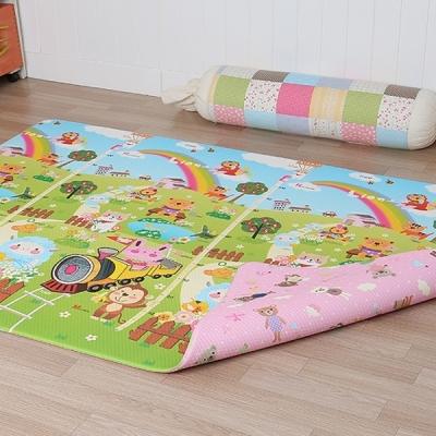아기노리 놀이방매트 키재기 곰돌이핑크 (양면) (중형)