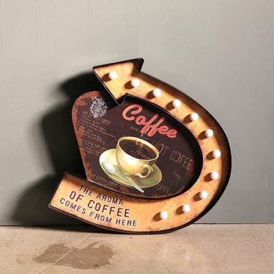EW 커피 LED 벽장식