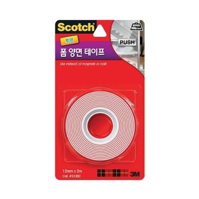 스카치 강력 투명 폼 양면 테이프(12mmx2m)