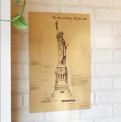 자유의여신상 도면 포스터 (10P SET)