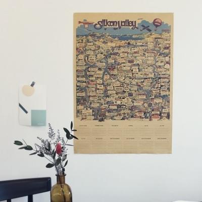 실리콘밸리 로고 메모 포스터 (10P SET)