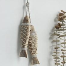 나무 물고기 장식 (2size)