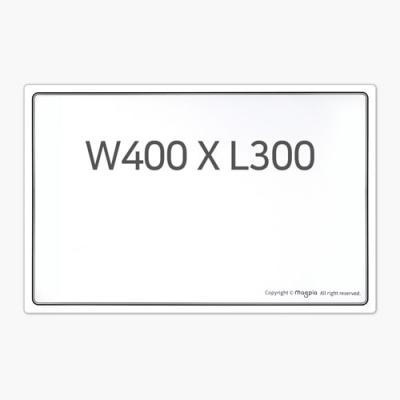 고무자석 화이트보드 W400 X L300