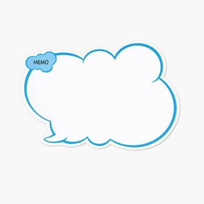 고무자석 메모보드 구름형