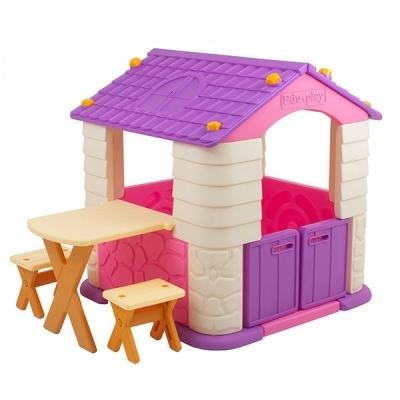 에듀플레이하우스2 바이올렛 (집.책상.의자세트)
