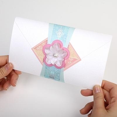 프리미엄 예단봉투 핑크 꽃