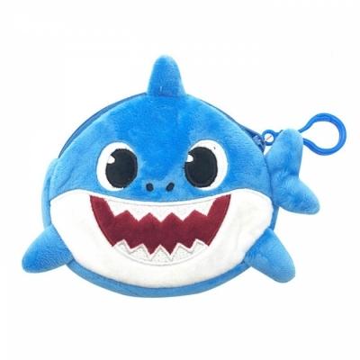 웰씨존 상어가족 동전지갑 블루