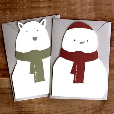 크리스마스 카드 - Bear Snowman