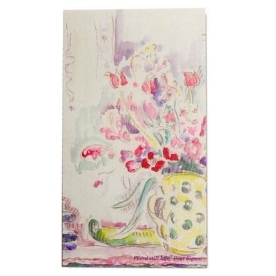 북키스카드-시그낙(꽃 정물)