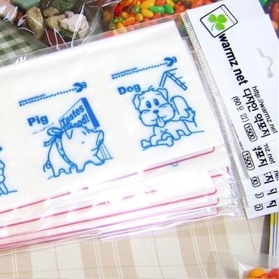 디자인약포지 동물(파랑)