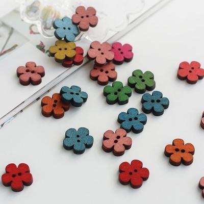 컬러 꽃 단추 (50p set)