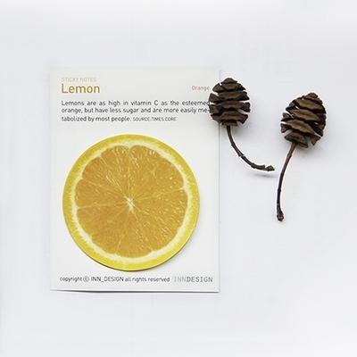 Lemon(orange)_접착식 메모지