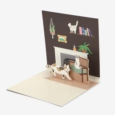 팝업 카드 - 08 Cat