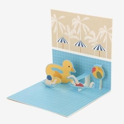 팝업 카드 - 10 Swimming