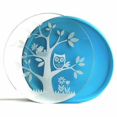 브린웨어 HOOT 플레이트 (유아동 접시) (블루)