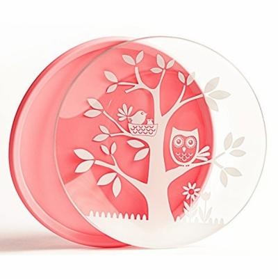 브린웨어 HOOT 플레이트 (유아동 접시) (핑크)
