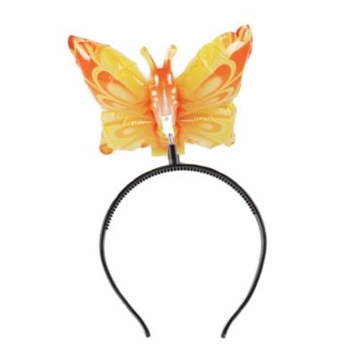 컬러룬 헤어밴드 풍선 나비 (노랑)