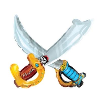 컬러룬 캐릭터풍선 왕자칼 해적칼