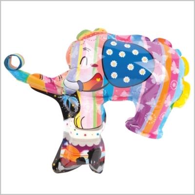 컬러룬 나팔 풍선 마스크 코끼리