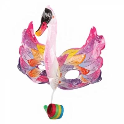 컬러룬 나팔 풍선 마스크 백조 (분홍)