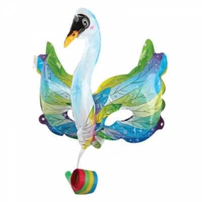 컬러룬 나팔 풍선 마스크 백조 (하늘)