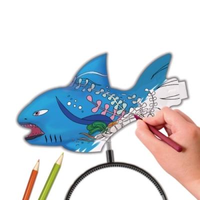 컬러룬 헤어밴드 색칠풍선 상어