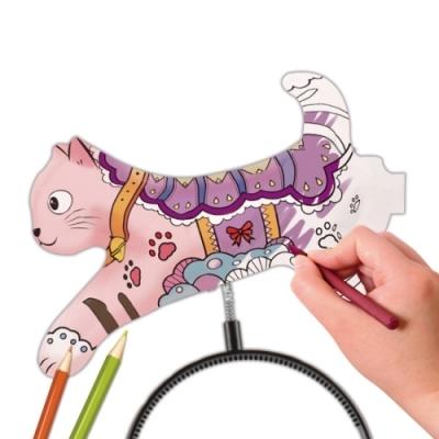 컬러룬 헤어밴드 색칠풍선 고양이