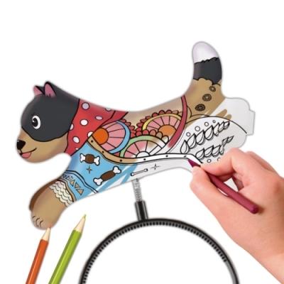 컬러룬 헤어밴드 색칠풍선 강아지