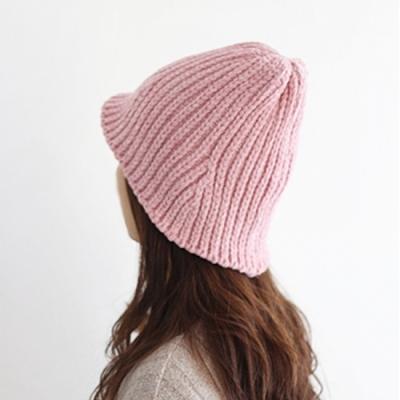 셔닐 니트 왕골비니 모자 (5color)