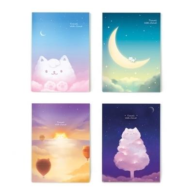 Cloud cat 노트 (4종)