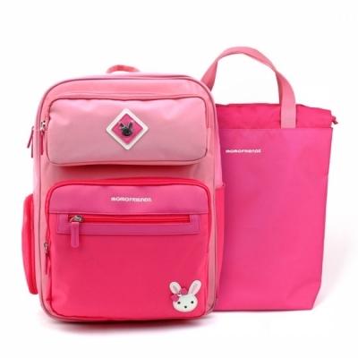 윙하우스 로라 핑크 블록 책가방세트