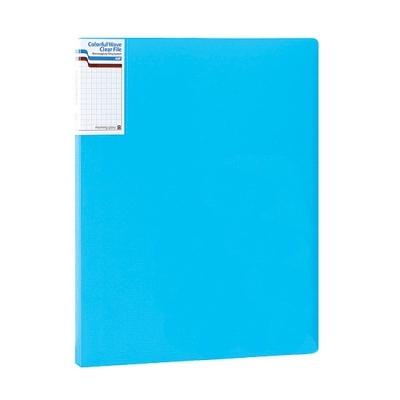 모닝글로리 컬러풀 웨이브 클리어화일 A4 (20P) (블루)