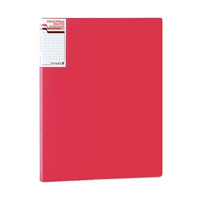 모닝글로리 컬러풀 웨이브 클리어화일 A4 (20P) (핑크)