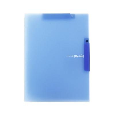 모닝글로리 더블 원터치 클립화일 (블루)