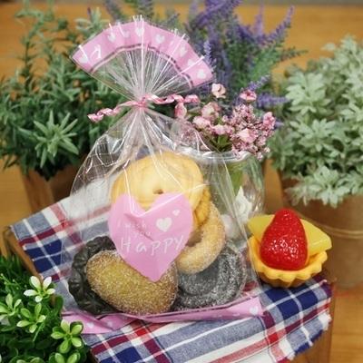 핑크하트  선물포장OPP
