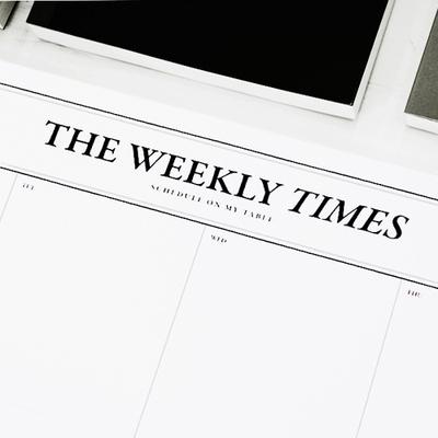 위클리타임즈 - Desk Notepad