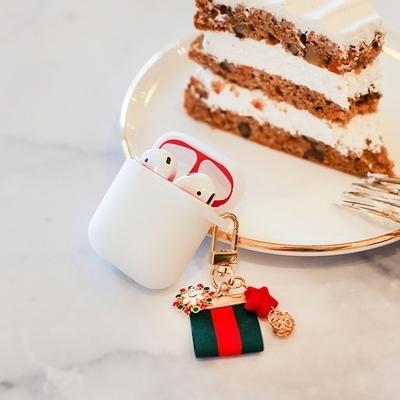 에어팟 철가루 방지 스티커 크리스마스 세트 B-반투명