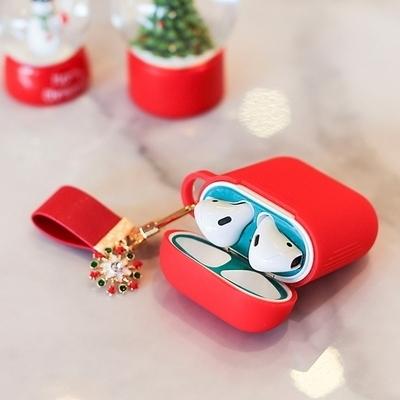 에어팟 철가루 방지 스티커 크리스마스 세트 A-레드