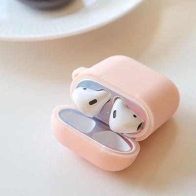1+1 에어팟 철가루 방지 스티커 (핑크블루그라데이션)