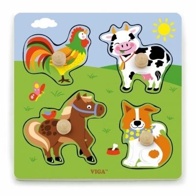 비가 베베 꼭지퍼즐 가축동물 (V50839)