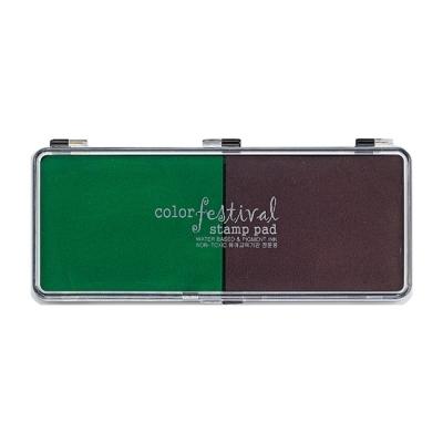 유니아트 스탬프 잉크패트 (녹색.갈색)